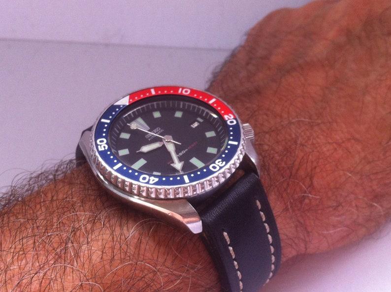 94650884144d5 Seiko 150m Diver Pepsi Bezel Date Auto Mechanical Men s