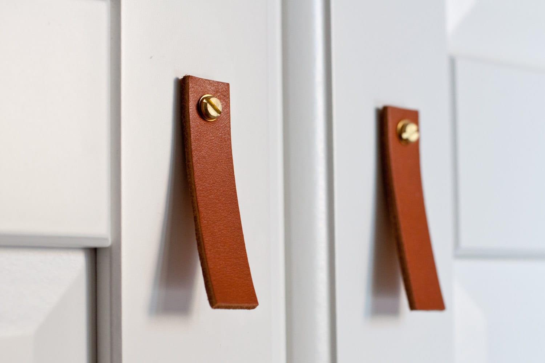 Leather Drawer Pulls, Leather Door Handles, leather door pulls ...