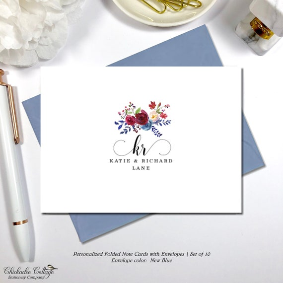 Personalized Wedding Thank You Cards Bridal Shower Birthday Thank You Cards Couples Thank You Cards Infinity Initials