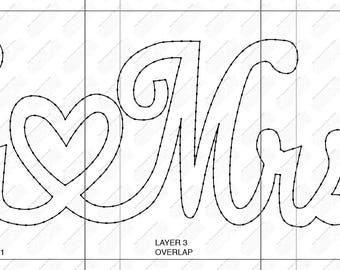 Mr & Mrs String Art Template