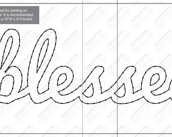 Blessed - String Art Template