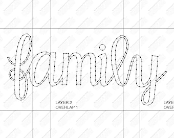 family with hearts string art template