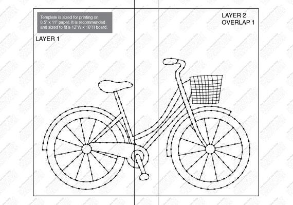 Bike Custom String Art Template Etsy