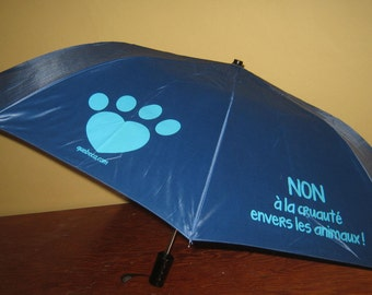 Blue umbrella, no animal cruelty
