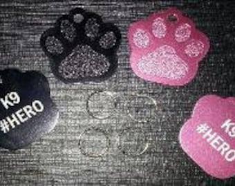 Dog Medal K9 pink or black