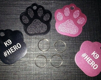 Medal for the K9 Hero dog paw shaped / Dog paw medal