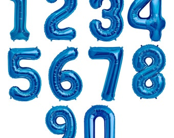 "Balloon Numbers 16"",  Foil Balloon Numbers, Birthday Balloon Numbers 16 inches"