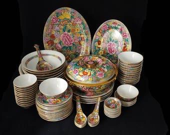 Asian theme dishware