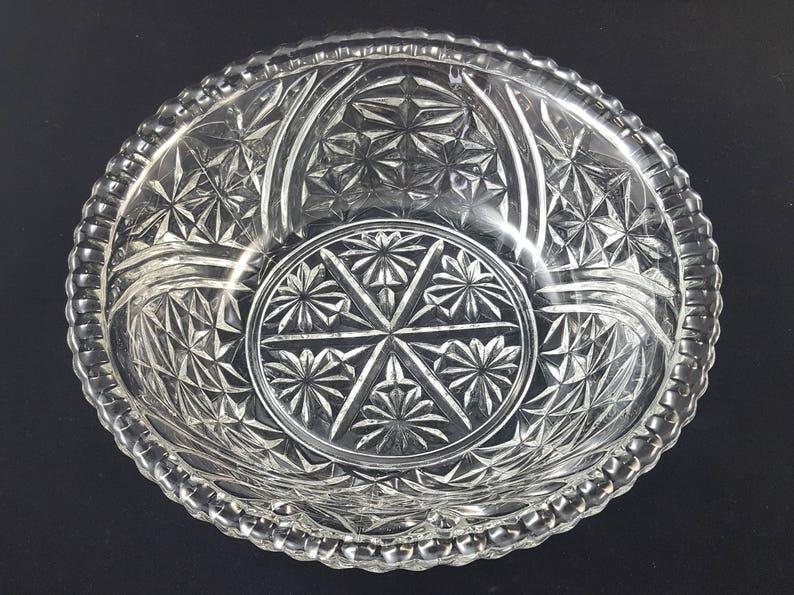EAPG Serving Bowl Early American Pressed Glass Serving Bowl Vintage EAPG Salad Bowl c.1910s 10 58