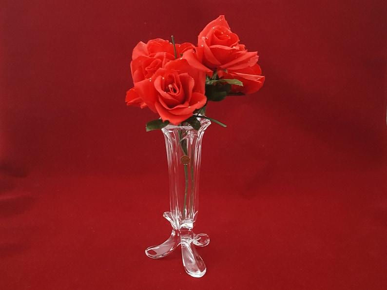 Cristal Darques France Genuine Lead Crystal Vase.Cristal D Arques 3 Footed Bud Vase Genuine 24 Lead Crystal France Vintage 1960 S