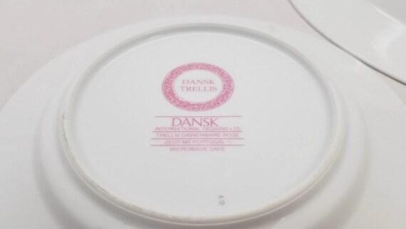 Trellis Rose by DANSK Dansk Trellis Rose Bread /&Butter Plates Dinnerware Set for 8 Vintage Dansk Plates Dansk Trellis Rose Dinner Plates