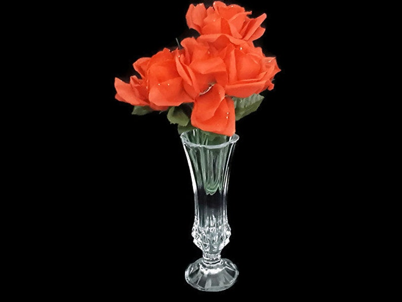 Cristal Darques France Genuine Lead Crystal Vase.Cristal D Arques Bud Vase Genuine 24 Lead Crystal France Vintage 1960 S