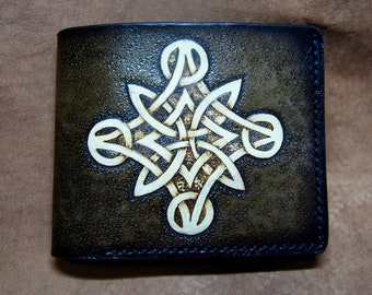 leather wallet with celtic knot 3b481de753