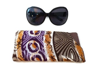 Protective Glasses sleeve, Sunglasses purse, Reading Glasses cover, Eyeglass case, Sunglasses sleeve Case african fabric