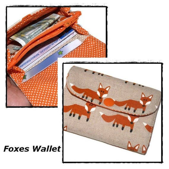 c38f72d6a31 Womens wallets, Fox, Small Wallet for Women, Business Card Holder, Credit  Card Holder, Mini Wallet Fox, gift for her, accordion wallet