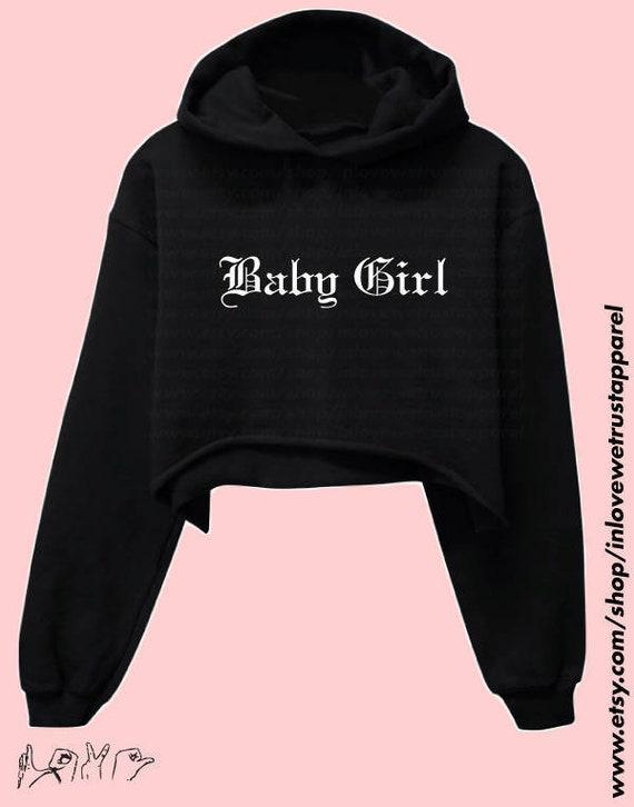 1dec49372 BABY GIRL Cropped Hoodie