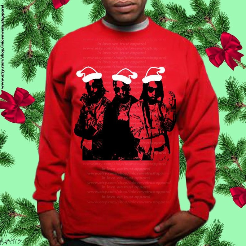 3014ced6efa7 Migos Ugly Christmas Sweater