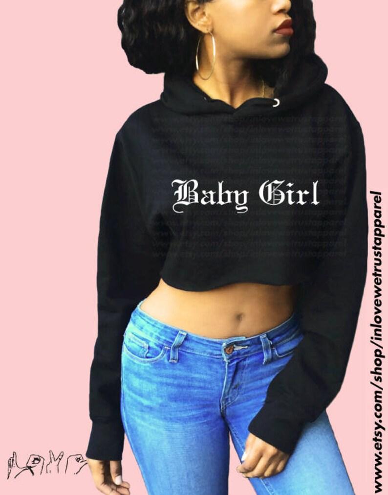 4ec98fc49 BABY GIRL Crop Hoodie