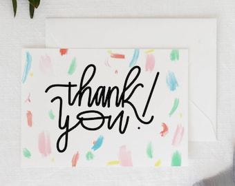 "Thank You Card | 5x7"" A7 Greeting Card | Blank Inside"