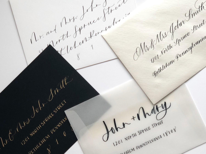 Wedding Calligraphy Envelope / Calligraphy Envelope Addressing | Etsy