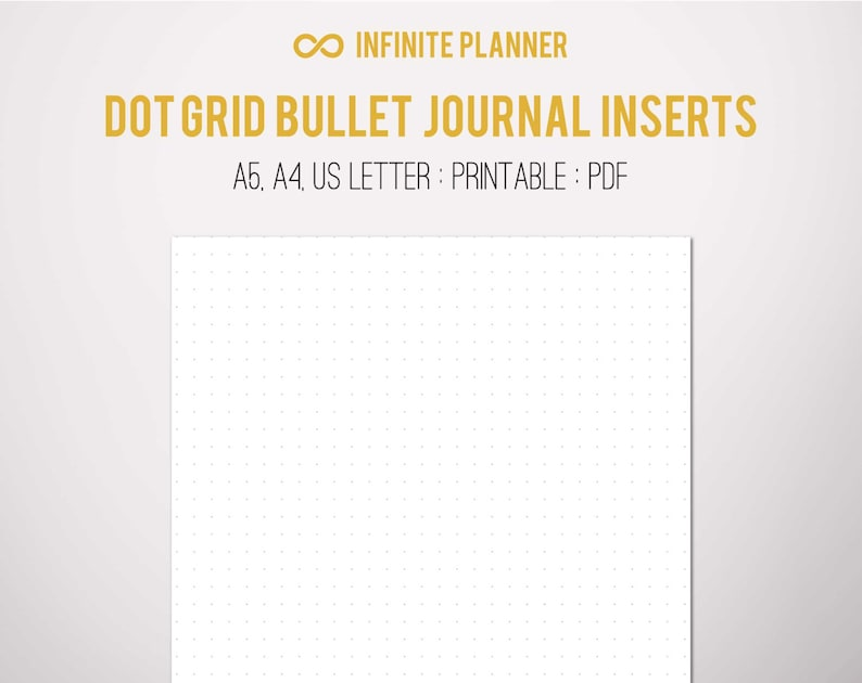 photo about A5 Dot Grid Printable called A5 Dot Grid Web site - Bullet Magazine Printable