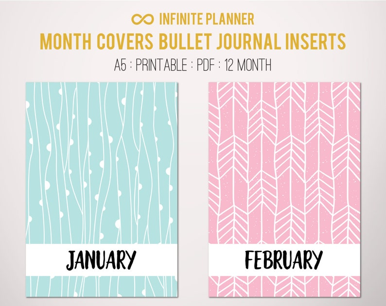 Month Covers Title Pages Separator Divider