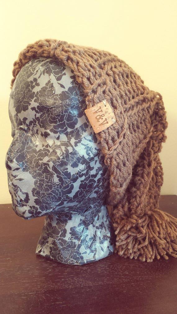 Homemade Crochet Mocha Slouchy Beanie  a8aa003529a