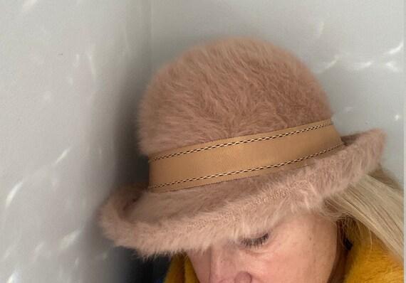 KANGOL Design Vintage Angora Bucket Cloche Hat