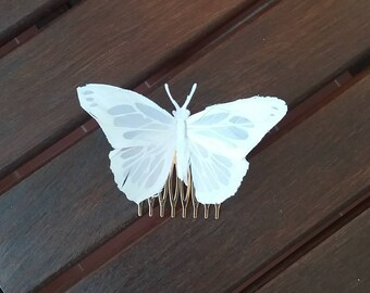 White Feather Butterfly
