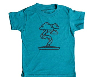 Bonsai Tree Shirt for Kids | Zen Garden | Minimalist | Child | Clothes | Tees | For Gift | Birthday | Triblend