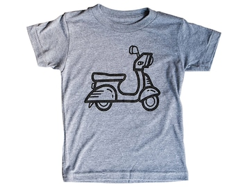 Scooter Shirt for Kids / Bike / Vespa Tshirt for Kids | Crew Neck Tee | Comfy Triblend | Perfect Summer Apparel