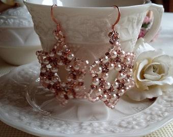 Beaded earrings star