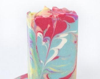 Bubblegum Rainbow Cold Process Soap - 4oz