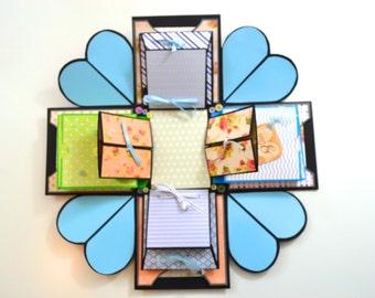Love Exploding Box / Explosion box card / Anniversary gift box / Birthday Gift Box / Valentines Gift Box / Wedding Gift Box (Exploding Card)