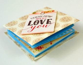 Birthday Card // Anniversary Card // Greeting Card // Handmade Card // Squash Book // Squash Card // Anniversary Gift // Photo Album