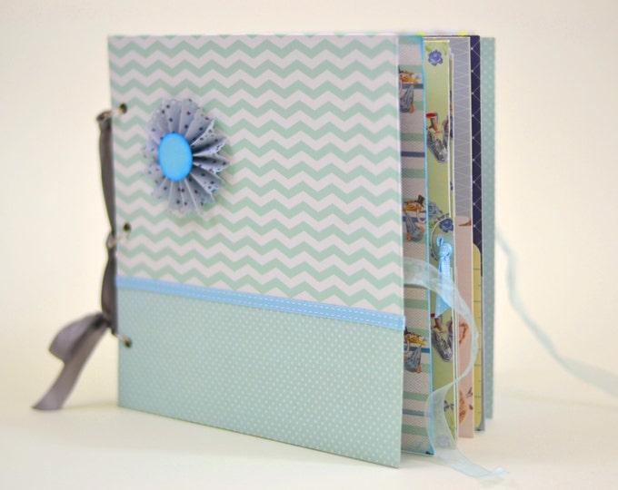 Baby Boy Photo Album - Baby Keepsakes & Memories - Handmade Memory book