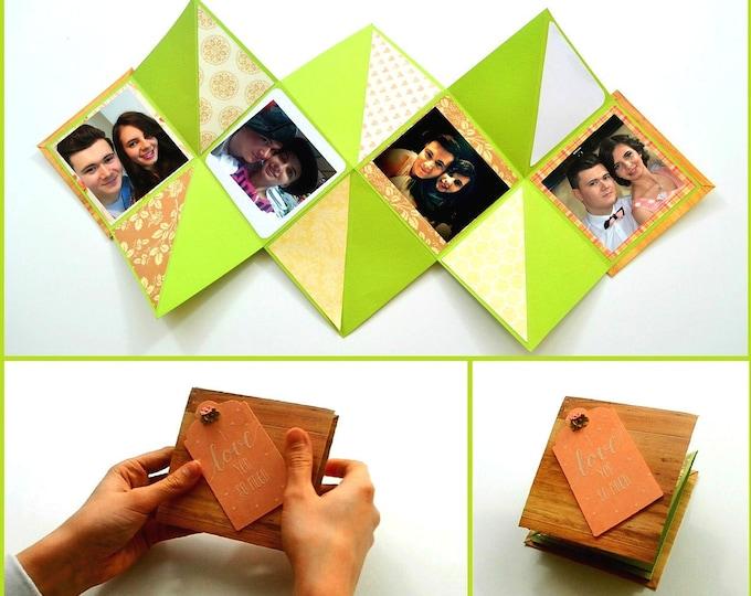 Mini Photo album - Cricut Project + Tutorial | Squash Card / Book