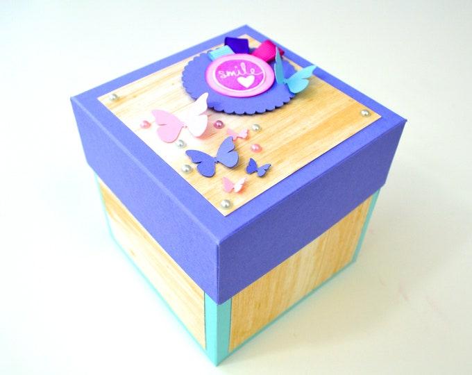Blue, Pink & Purple Explosion Box | Anniversary gift box, Birthday Gift Box, Valentines Gift Box, Wedding Gift Box
