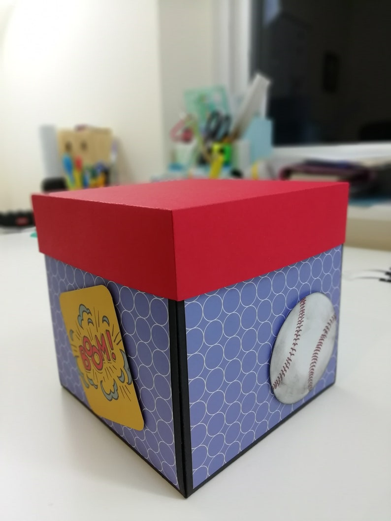 Birthday Explosion Gift Box for Son Greeting Card Grandson etc. Explode Photo Box for Kids Birthday Personalised gifts for Son
