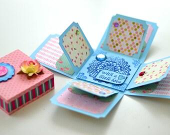 Handmade Personalised Birthday Gift -  Exploding box card // Baby Album // Greeting Cards