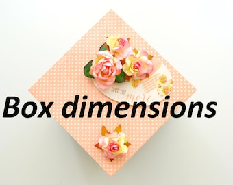 Exploding Box / Love Explosion Box - Dimensions - Gift Box Template ( Anniversary gift box / Birthday Gift Box / Valentines Gift Box )