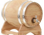 Wine, Brandy, Spirits Barrel with Tap Solid Pinewood 6 L - Ideal Gift