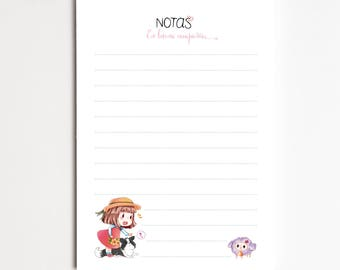"Notepad A6 ""OVEJA"", Task List, Shopping List, Organizer, planner - Pretty Stationery"