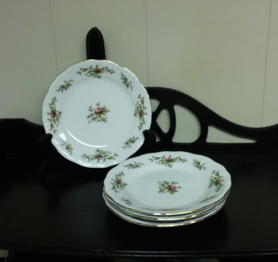 "10/"" DINNER PLATE EUC Vintage JOHANN HAVILAND BAVARIA GERMANY MOSS ROSE APPROX"
