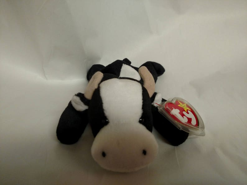 8a5ff622eb3 Ty Beanie Babies Set of 3. Daisy the Black and White Cow