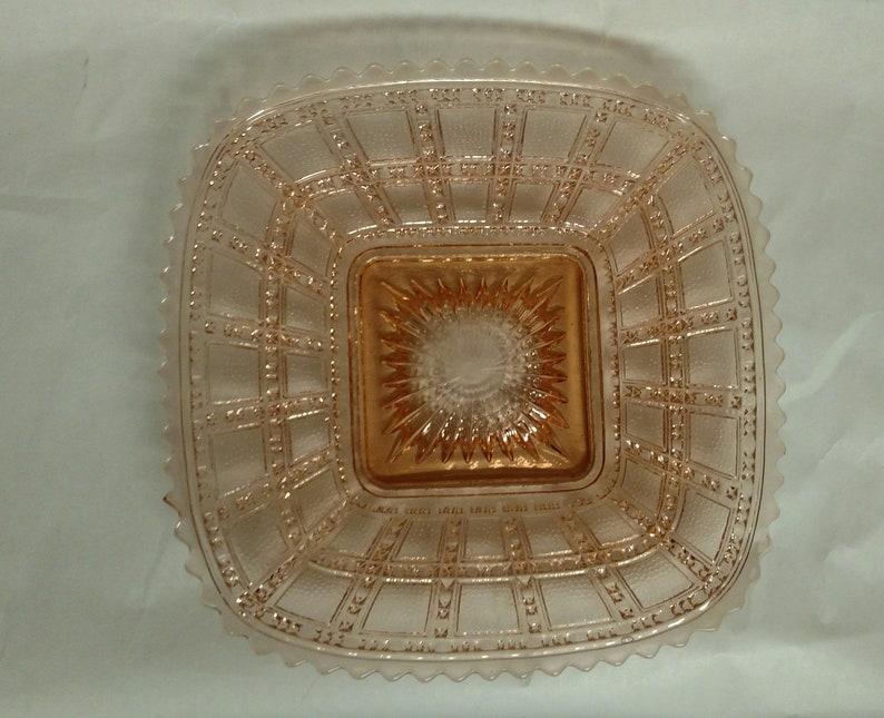 Vintage Beaded Block Pink Plate