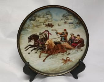 """Collectors Plate """"A Winter Sleigh Ride"""""""