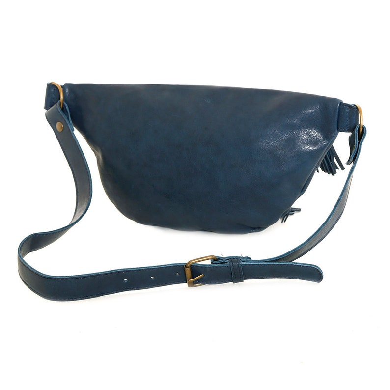 travel hip bag leather waist bag boho fanny pack Leather fanny pack brown festival belt women belt bag leather utility belt