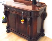 Antique Federal Empire Style Sideboard Good Condition Arts and Crafts Style Acanthus Leaf and Scroll Carving