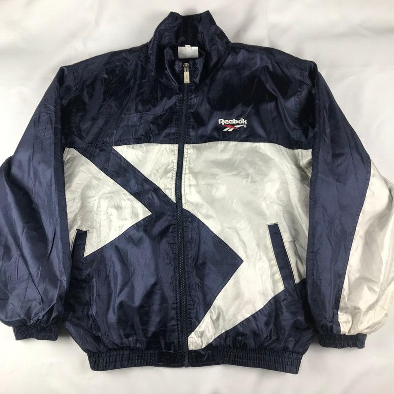 0f3a6f9b55952 Vintage Reebok Windbreaker Jacket size. L